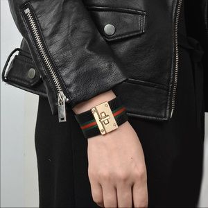 Design Gucci Leather Bracelet